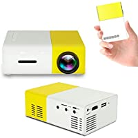 Efanr Mini Projector, Portable 1080P HDMI 600 Lumens LCD Video Game TV Movie Projector Outdoor Home Cinema Theater Support DVD Player Laptop Tablet iPad iPhone Android Smartphone USB SD Card