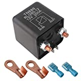 ARTGEAR Automotive Relays for Car Truck Motor Boat Car Starter - 12V DC 200 Amp Split Charge Relay Switch with 2 Pin Footprint + 2 Terminal