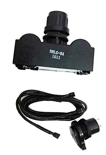 DcYourHome Replacement Electronic Igniter Kit for Universal Char-Broil Grill Models (G515-0030-W2),incl. Ignition Module Ignitor-5 Outlets, and Electronic Ignition Switch/Button (Electronic Ignition Module)