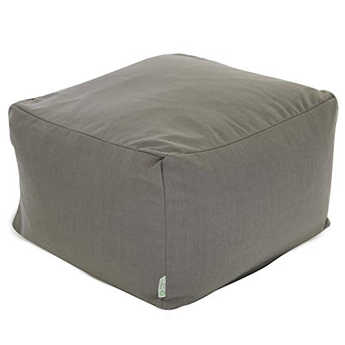 Majestic Home Goods Wales Ottoman, Large, Gray