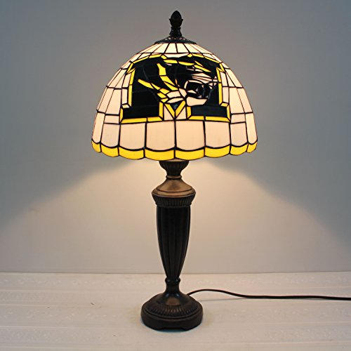 HDO 12-inch NCAA Missouri Tigers Stained Glass Table Lamp