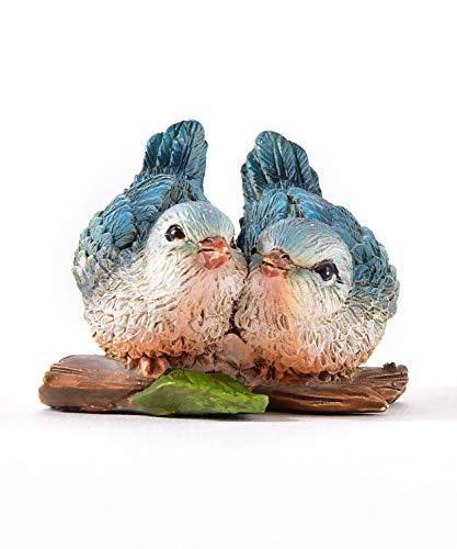 Gift Craft Miniature Woodland Animal Fairy Garden Mini Forest Polystone Figurines (Bird Couple) (Love Birds Animals)