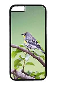 iPhone 6 Case, Personalized Unique Design Protective Cover for iPhone 6 PC Black Edge Case - Small Gray Bird
