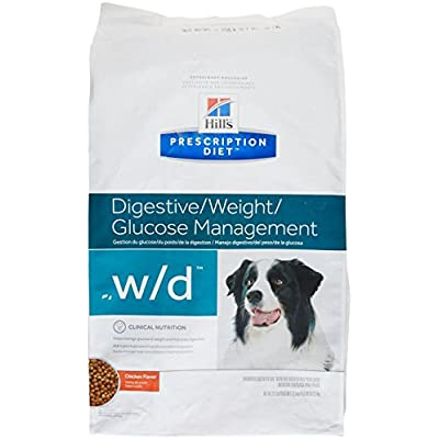 HILL'S PRESCRIPTION DIET w/d Multi-Benefit Digestive/Weight/Glucose/Urinary Management Chicken Flavor Dry Dog Food, 27.5 lb Bag