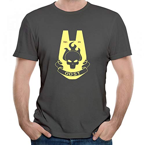 indokyeyqaz Men's/Unisex ODST Gold Trendy Design Humor Graphic T-Shirt Cool Printed Gift Tshirt Short Sleeve Tees Grey L (Halo Odst Shirt)