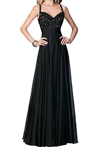 Partykleid Elegant A Festkleid Ivydressing Linie Damen Spitze Schwarz amp;Chiffon Promkleid Abendkleid Spaghetti 5t60Wq