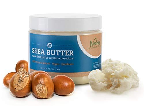 (Shea Butter –100% Organic, Natural, Raw, Cold Pressed & Unrefined Anti-Aging Cream | Rich in Vitamins A, E, F, Antioxidants, and Essential Fatty Acids | 16-oz | Moisturizer For Skin)