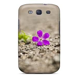 Hard Plastic Galaxy S3 Case Back Cover,hot Beautiful Single Flower Case At Perfect Diy
