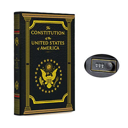 Real Pages Portable Diversion Book Safe with Combination Lock - Hollowed Out Book with Hidden Secret Compartment for Jewelry, Money and Cash (The Constitution of The United States of America)