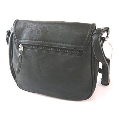 Bag designer 'Lulu Castagnette'costellata nero - 28x23x8 cm.