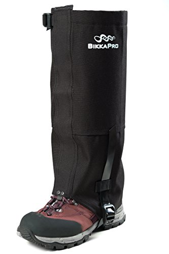 Waterproof Snake (Boot Gaiters Waterproof Leg Cover - Breathable, Anti-Tear and Scratch Proof Oxford Fabric - Perfect Legs Protection Wraps for Hiking, Snow, Climbing, Camping for Man and Women - Includes 2 Neck Gaiter)