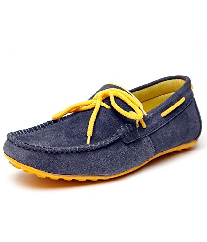 e5b6df5c82b Bacca Bucci Men Navy Blue Genuine Leather Loafers  Buy Online at Low ...