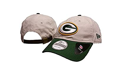 NFL Green Bay Packers Core Shore Adjustable Leather Strap Hat, New Era by New Era