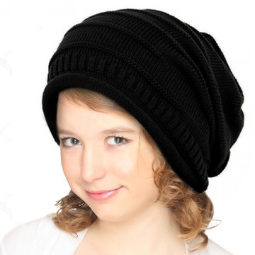 Children Spring Hat Knitted Slouchy Beanie cd8a865daee