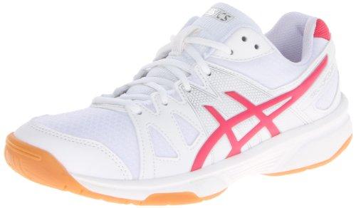 (ASICS Women's Gel Upcourt Volleyball Shoe,White/Raspberry/Silver,9.5 M US)