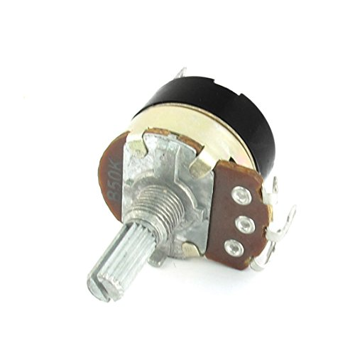 [Uxcell a14071200ux0185 50K Ohm 6 mm Knurled Shaft Rotary Adjustable Dimmer Potentiometer Switch] (Switch Potentiometer)