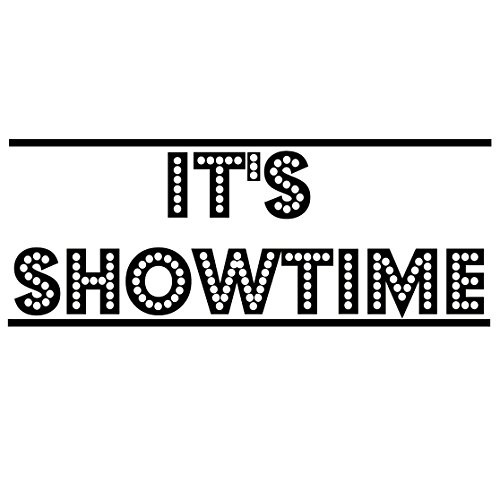 It's Showtime Vinyl Wall Decal Decor Home Theater Drama Wall Stickers Quotes Movies Theatrical Quote ()
