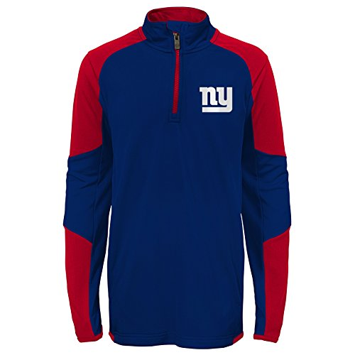 Outerstuff NFL New York Giants Youth Boys Beta 1/4 Zip Performance Top, Dark Royal, Youth X-Large(18)