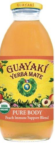 Guayaki Organic Yerba Mate, Pure Body, 16 Ounce (Pack of 12)
