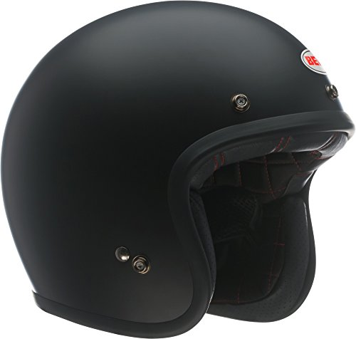 Bell Custom 500 Open-Face Motorcycle Helmet(Solid Matte Black, Medium)