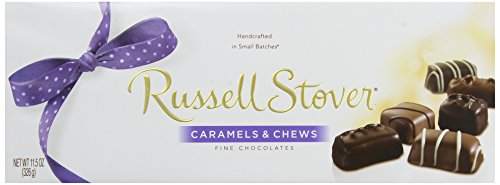 Russell Stover Assorted Chocolate Caramels & Chews, 11.5-Ounce Boxes (Pack of 3) Caesar Chocolate