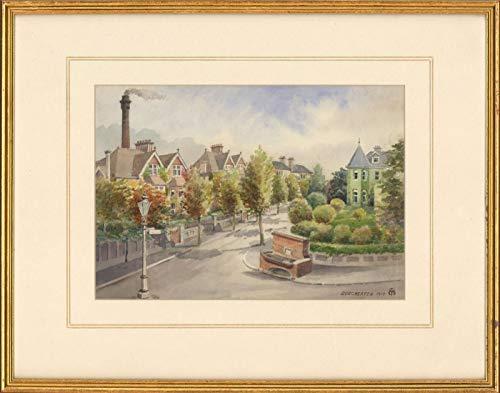 - Sulis Fine Art Charles T. Miles - Framed 1919 Watercolour, Street Scene