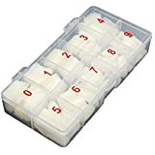 (Mchoice Box 500Pcs Clear White Natural French False Acrylic Nail Art Tips UV Gel DIY)
