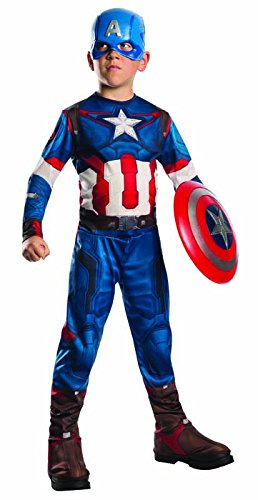 Rubie's Costume Avengers 2 Age of Ultron Child's Captain America Costume, Medium (Kids Captain America Costume With Shield)