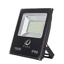 Bezyl 100W LED Flood Light ,led spot light, 500W Halogen Bulb Equivalent, Waterproof, 10000lm, Daylight White, 6000K, Security Lights, Floodlight,outdoor,AC85-265V (100W)