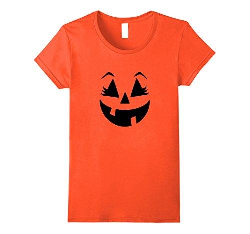 Womens Halloween Pumpkin Shirt | Cute Costume T Shirt Gift Idea XL (Cute Female Halloween Costume Ideas)