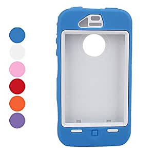 LIMME- Robot Style Anti Shock Case with Screen Guard for iPhone 4 and 4S (Assorted Colors) , Blue