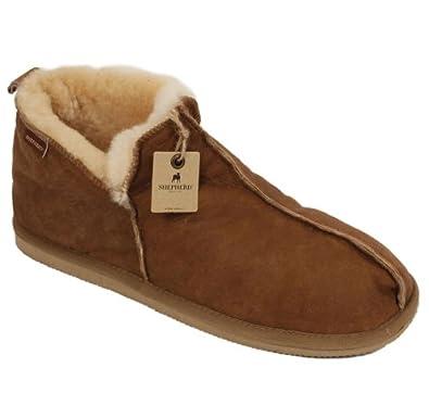 Amazon.com   Shepherd Mens Boot Style Antique Leather Sheepskin ...