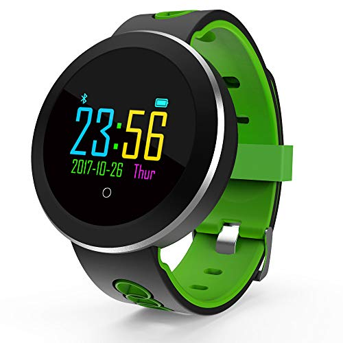 Smart watch with waterproof, Bluetooth, sports, stepping heart rate, blood pressure monitoring, for android platform, Apple iOS platform, for crowds, business, adults, old people, fashion, public,,Gre