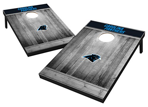 Wild Sports 2'x3' MDF Wood NFL Carolina Panthers Cornhole Set - Grey Wood Design
