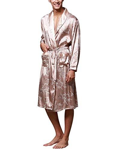 Battercake Robe Primavera Vestitino Da Estate Uomo Camel Comodo Accappatoio Vestaglia E Bagno Morbido Casual Accogliente WnBcWU