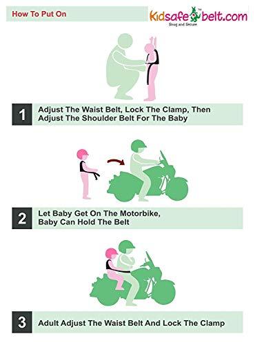 Kidsafe Belt - Two Wheeler Child Safety Belt - Cool Pink Butterfly by Kid-Safe (Image #7)