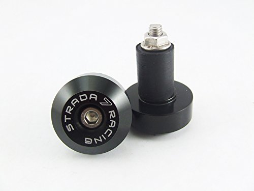 Strada 7 Large Handle Bar Ends for Suzuki SV650 SV1000 S GSR750 GSX650F Black