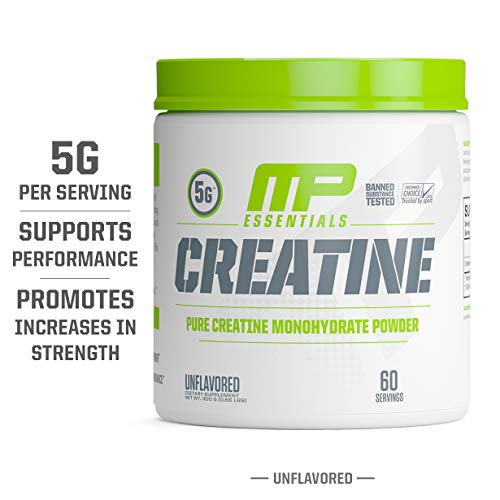 MP Essentials Micronized Creatine, Ultra-Pure 100% Creatine Monohydrate Powder, Muscle-Building, Protein Creatine Powder, Creatine Monohydrate Powder, 300 g, 60 Servings from Muscle Pharm