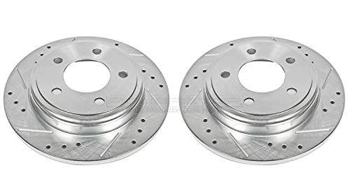 Price comparison product image Power Stop AR8335XPR Rear Evolution Drilled & Slotted Rotor Pair