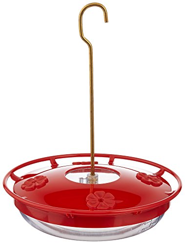 - Aspects HummZinger HighView 12 oz Hanging Hummingbird Feeder - 429, Red
