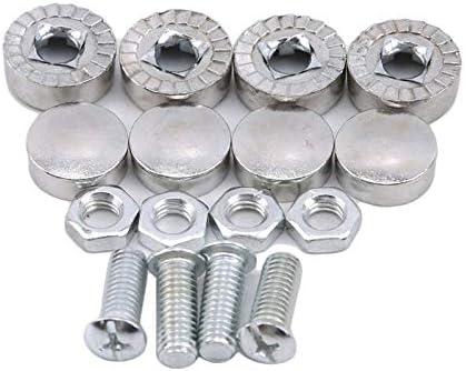 NO LOGO XJB-LUOMU, Car Modified Hex Fasteners Fender Washer Auto Motor Concave Schrauben Fender Washer Kennzeichenschrauben Car-Styling (Farbe : Silber-)