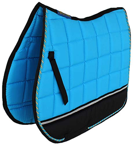 PRORIDER Horse Quilted English Saddle PAD Tack Trail Riding Turquoise 72F02