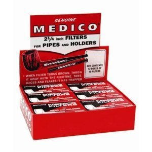 Medico Pipe Filters - 12 Boxes of 10 ()