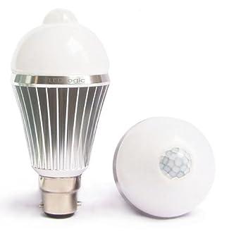 Timer For Light Bulb: LED SMART Light Bulb - Motion Sensor PIR, Warm White, (B22 bayonet base),  60 Second Timer [Energy Class A],Lighting
