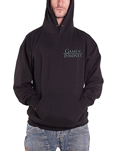 Game Of Thrones Hoodie House Stark Official Mens Black Pullover