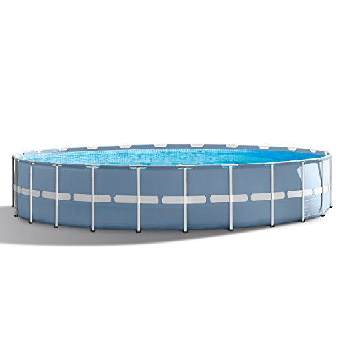 INTEX 24ft X 52in Prism Frame Pool Set with Filter Pump, Ladder,...