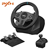 PXN V9 270/900°Game Racing Wheel  PS4 Racing Steering Wheel Dual-Motor Feedback Driving   with Pedals and Joystick PC Steering Wheel Suitable for Xbox Series X&S/PS3/PS4/PC/Xbox One/Nintendo Switch