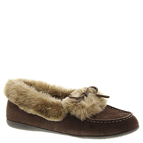 VIONIC Womens Cozy Juniper Moccasin Chestnut Loafer