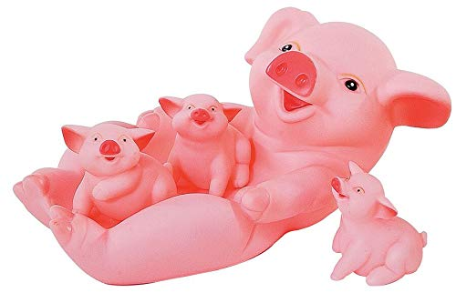 Pig Family Kids Bath Toy Set for Toddlers Fun Water Toys ()