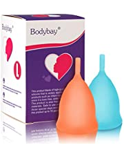 Bodybay Orange and Blue Menstrual Cups